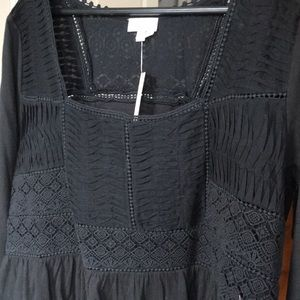 Detailed Black Anthropologie Top XL